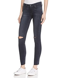 Paige Verdugo Ankle Skinny Jeans In Kaleea Destructed