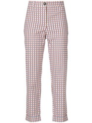 Paul Smith Ps By Checked Cropped Trousers Multicolour