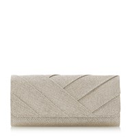 Roland Cartier Benitah Cross Pleat Clutch Gold