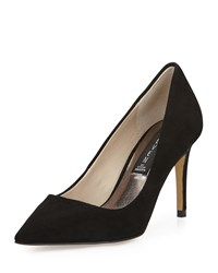 Steven By Steve Madden Sharazz Suede Pointed Toe Pump Black