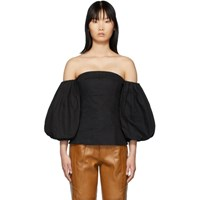 Edit Ssense Exclusive Black Off The Shoulder Blouse