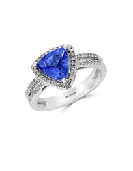 Effy Tanzanite Royale Diamond And 14K White Gold Ring Blue
