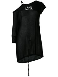 Ann Demeulemeester One Shoulder T Shirt Women Modal 40 Black
