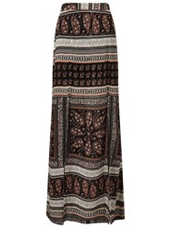 Miss Selfridge White Stuff Printed Split Maxi Skirt Multi