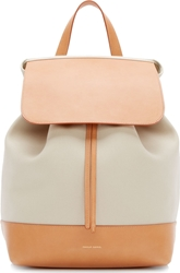Mansur Gavriel Tan Canvas And Leather Backpack