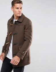 Selected Homme Wool Duffle Coat Slate Blac Brown