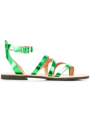 P.A.R.O.S.H. Crossover Strap Sandals Green