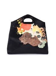 Dries Van Noten Floral Print Clutch Bag Black
