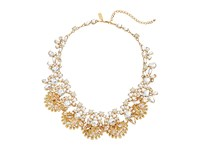 Kate Spade Chantilly Gems Statement Necklace Cream Multi Necklace Gray