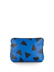 3.1 Phillip Lim 31 Second Leather Cosmetic Bag Cobalt