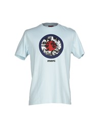 Merc Topwear T Shirts Men Sky Blue