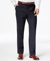 Louis Raphael Navy Pin Dot Dress Pants