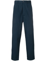 Casey Casey Tapered Leg Trousers Blue