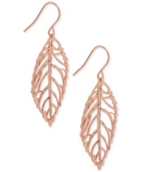 Giani Bernini Leaf Drop Earrings In 18K Rose Gold Plated Sterling Silver Only At Macy's