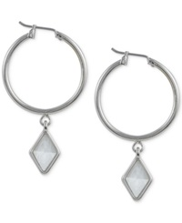 French Connection Silver Tone Click It Kite Drop Earrings