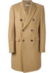 Melindagloss Double Breasted Overcoat Nude And Neutrals