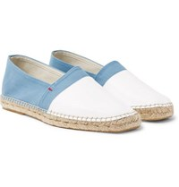 Orlebar Brown Sutton Canvas And Leather Espadrilles Blue