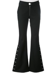 Ssheena Lace Up Detail Flared Trousers Black