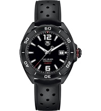 Tag Heuer Waz2115.Ft8023 Formula 1 Titanium And Rubber Watch Black