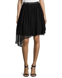 Haute Hippie Embellished Waist Tutu Skirt Black