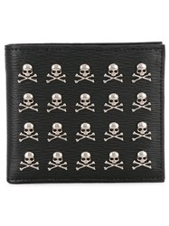 Philipp Plein Wallet With Skull Appliques Men Calf Leather One Size Black