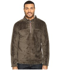 True Grit Double Plush 1 4 Zip Pullover Cargo Men's Clothing Taupe