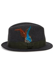 Paul Smith Charcoal Felt Trilby Grey
