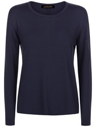 Jaeger Jersey Long Sleeved T Shirt Navy