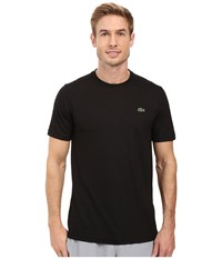 Lacoste Sport Short Sleeve Solid Ultra Dry Tee Shirt Black Men's T Shirt