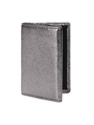 Uri Minkoff Quint Trifold Leather Key Wallet Anthracite