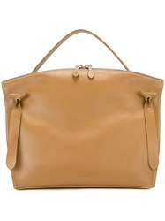 Jil Sander Single Handle Tote Nude And Neutrals