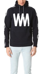 White Mountaineering Wm Printed Fleece Lining Pullover Navy