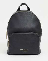 Ted Baker Paloya Stoft Greain Leather Backpack Black