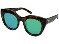 Le Specs Air Heart Milky Tortoise Gold Fashion Sunglasses Green