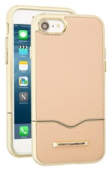 Rebecca Minkoff Leather Iphone 7 Slider Case Beige Nude