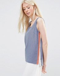 Vila Vana Sleeveless Top Folkstone Grey