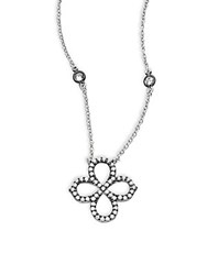 Freida Rothman Classic Sterling Silver Clover Pendant Necklace