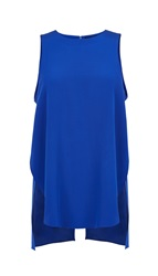 Tibi Silk Layered Sleeveless Top