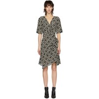 Isabel Marant Black And Off White Arodie Dress
