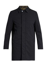 Valentino Reversible Cotton Blend Coat Navy