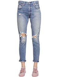 Levi's 501 Skinny Destroyed Cotton Denim Jeans