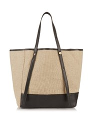 See By Chloe Linen And Leather Tote Beige