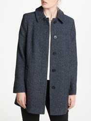 John Lewis Textured A Line Coat Blue