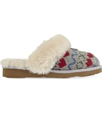 Ugg Cozy Knit Heart Slippers Grey Other