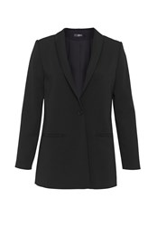 Hallhuber Boyfriend Blazer With Shawl Collar Black