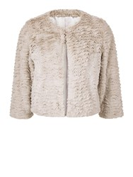 Kaliko Short Fur Jacket Neutral