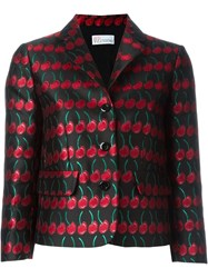 Red Valentino Cherry Jacquard Jacket Black