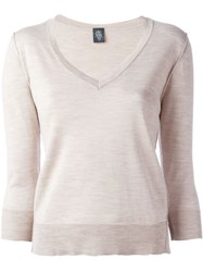Eleventy V Neck Sweater Nude And Neutrals