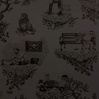 Flavor Paper Chinatown Toile Wallpaper Red Pink Gray