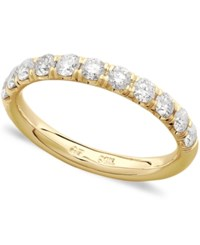 Macy's Pave Diamond Band Ring In 14K White Or Yellow Gold 3 4 Ct. T.W.